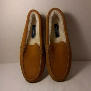 LAND'S END WOMENS SHOES SIZE 7  CAMEL TAN SUEDE MO